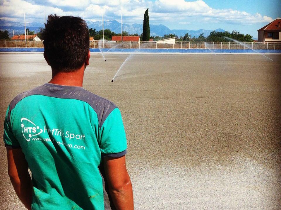 Zalivni sistem na stadionu Zete u Golubovcima